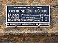 Ségrie (Sarthe) plaque de cocher communal.jpg