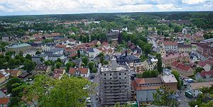 Söderköping - Panoramic view of Söderköping in 2004