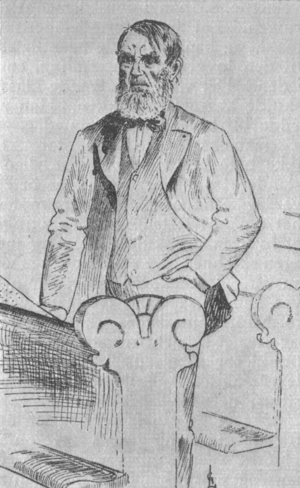 Søren Jaabæk - An 1891 drawing of Søren Jaabæk, by Gustav Lærum