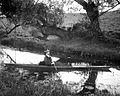 S. H. Smith in canoe, 1905 YORYM-S431.jpg