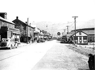 Saxton, Pennsylvania - Main Street Saxton in 1938