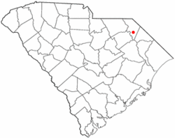 Location of Blenheim in South Carolina