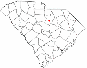 Camden, South Carolina - Image: SC Map doton Camden