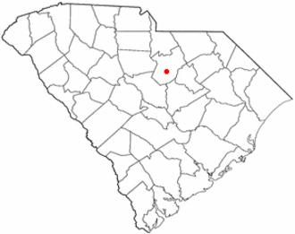 Camden, South Carolina - Image: SC Map doton Camden