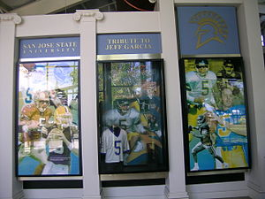 Jeff Garcia - The tribute to Garcia at San Jose State University's football center
