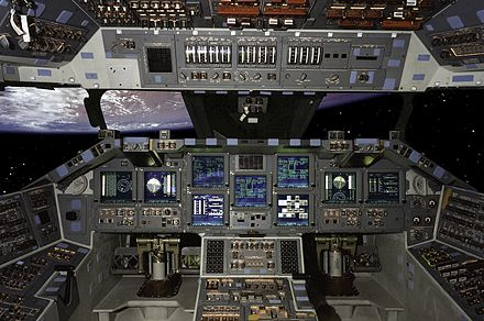 Atlantis was the first Shuttle to fly with a glass cockpit on STS-101. STSCPanel.jpg