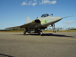 Saab 35 at Växjö Air Show 2012 1.jpg