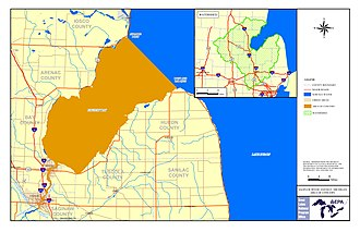 Saginaw Bay - Image: Saginaw Bay watershed