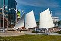 Sails Monument St John harbour, Newfoundland (40650813514).jpg