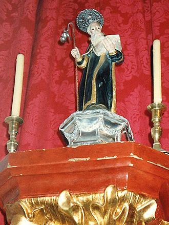 Saint Amaro - Statue of Saint Amaro.  Ermita de San Amaro, Puerto de la Cruz.