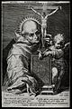 Saint Bernardino of Siena. Line engraving by J. Sadeler afte Wellcome V0031726.jpg