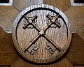 Saint Catharine of Siena Church (Columbus, Ohio) - confessional, Keys of Peter.jpg