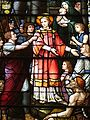 Saint Julie Billiart Catholic Church (Hamilton, Ohio) - stained glass, Saint Lawrence, detail.jpg