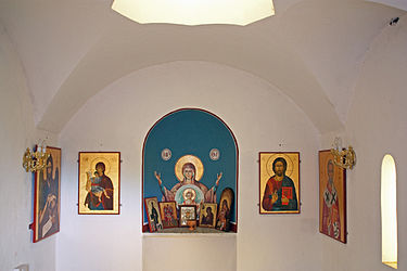 Saint Nicholas chapel interior on Limassol pier 2010.jpg