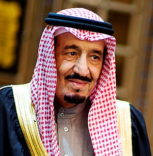 Salman, King of Saudi Arabia and Custodian of the Two Holy Mosques Salman bin Abdull aziz December 9, 2013.jpg