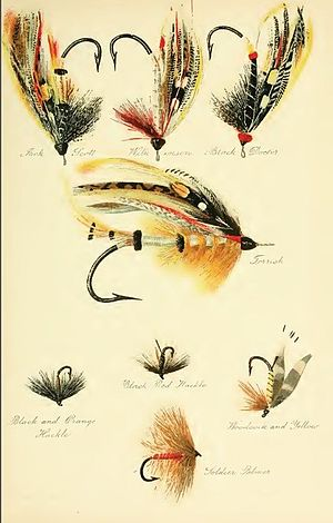 Fly Fishing (book) - Salmon and Sea Trout Flies (1920 edition)