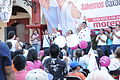 Salomón Jara y Andrés Manuel López Obrador en 5to día de campaña Santa Lucía del Camino.JPG