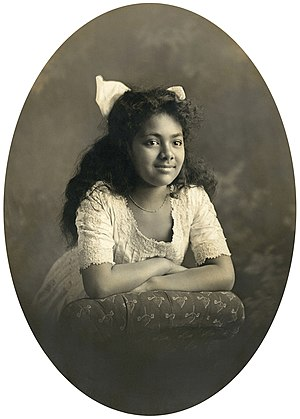 Sālote Tupou III - Crown Princess Sālote as a child in 1908.