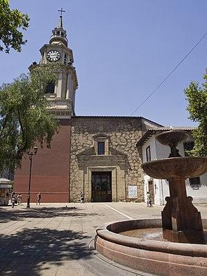 San Francisco Church, Santiago de Chile - A view of the western facade of San Francisco Church in Santiago, Chile.