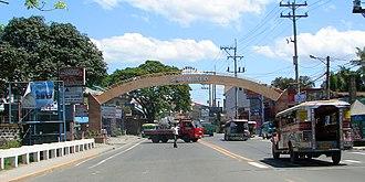 San Mateo, Rizal - Welcome facade of San Mateo at Nangka Bridge