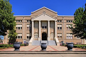 National Register of Historic Places listings in San Jacinto County, Texas - Image: San jacinto tx county courthouse 2014