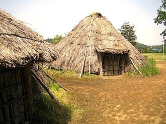 Sannō-Gakoi Site - Reconstructed Yayoi period dwelling at Sannō-Gakoi site