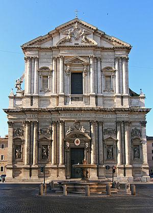 Sant'Andrea della Valle - The Rococo façade of Sant'Andrea della Valle.