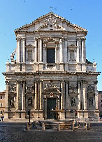 Sant'Andrea della Valle - The Baroque façade of Sant'Andrea della Valle.