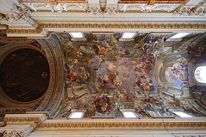 Sant'Ignazio Church, Rome - The trompe l'œil ceiling of Sant'Ignazio.