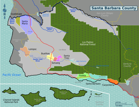Santa Barbara Wine Map