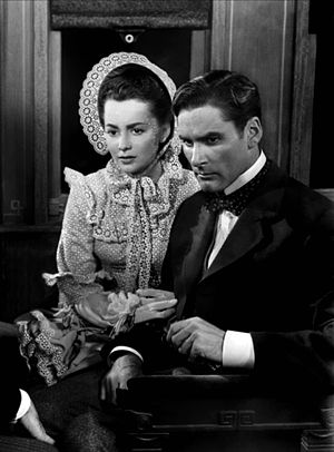 Santa Fe Trail (film) - Olivia de Havilland and Errol Flynn in Santa Fe Trail