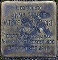 Sassnitz, Bergstr. 6, Stolperstein Anna Marie Wittschekowski.jpg