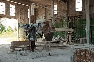 Phenix, Missouri - Limestone saw inside main building