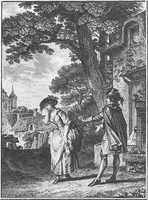 Le devin du village - Scene from Le devin du village (Moreau, 1753)