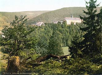 Schwarzburg-Rudolstadt - The castle at Schwarzburg