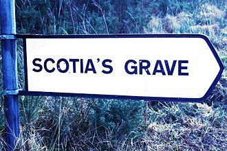 Scota - Signpost on by-road, south of Tralee