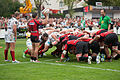 Scrum - US Oyonnax - Rugby club toulonnais, 28th September 2013.jpg