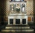 Scuola di donatello, ancona con madonna col bambino tra i ss. girolamo e domenico, xv secolo, 01.jpg