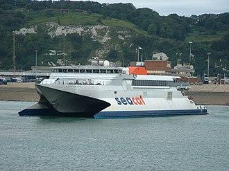 SeaCat - SeaCat Scotland in Dover in 2004