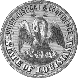 Seal of Louisiana - Image: Seal of Louisiana (1879)