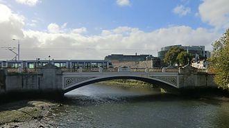 Seán Heuston Bridge - Seán Heuston Bridge seen from Frank Sherwin Bridge