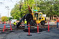 Seattle - laying trolley tracks on Broadway at Pine 11.jpg