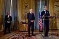 Secretary Kerry Delivers his Thanks After French Foreign Minister Jean-Marc Ayrault Awarded him the Grand Office of the Légion d'honneur (31407215542).jpg