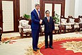 Secretary Kerry Shakes Hands With Laotian Prime Minister Thammavong Before Bilateral Meeting in Vientiane (24569876716).jpg