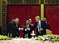 Secretary Tillerson Shares a Toast with President Trump and Vietnamese Deputy Prime Minister Binh Minh (24467207968).jpg