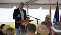 Secretary of the Interior Ken Salazar speaks to the audience at the Tamiami Trail One-Mile Bridge opening ceremony in Miami, March 19, 2013 130319-A-IO255-002.jpg