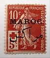 Semeuse croix-rouge surchargée Maroc.JPG