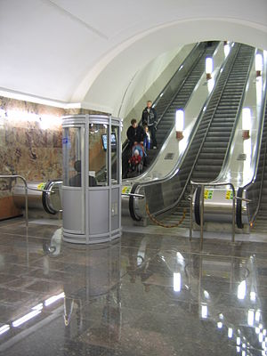 Arbatsko-Pokrovskaya Line - New escalators on Semyonovskaya