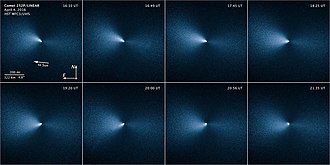 252P/LINEAR - Image: Sequence of images taken by the NASA ESA Hubble Space Telescope shows Comet 252P LINEAR