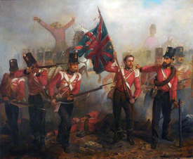 Sergeant Luke O'Connor Winning the Victoria Cross at the Battle of Alma.png